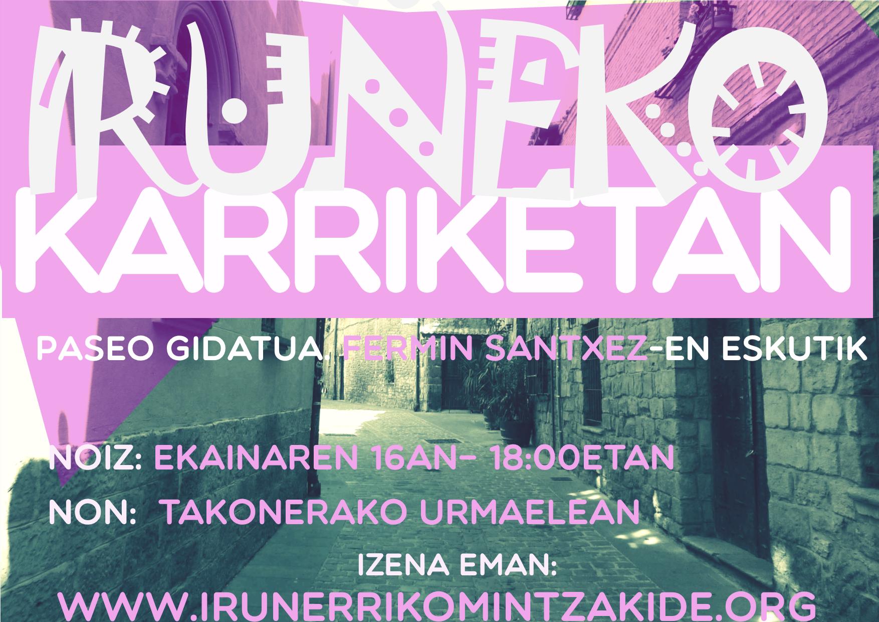 """Ekainak 16: """"Iruñeko Karriketan"""" paseo gidatua + Pintxo-poteoa!"""