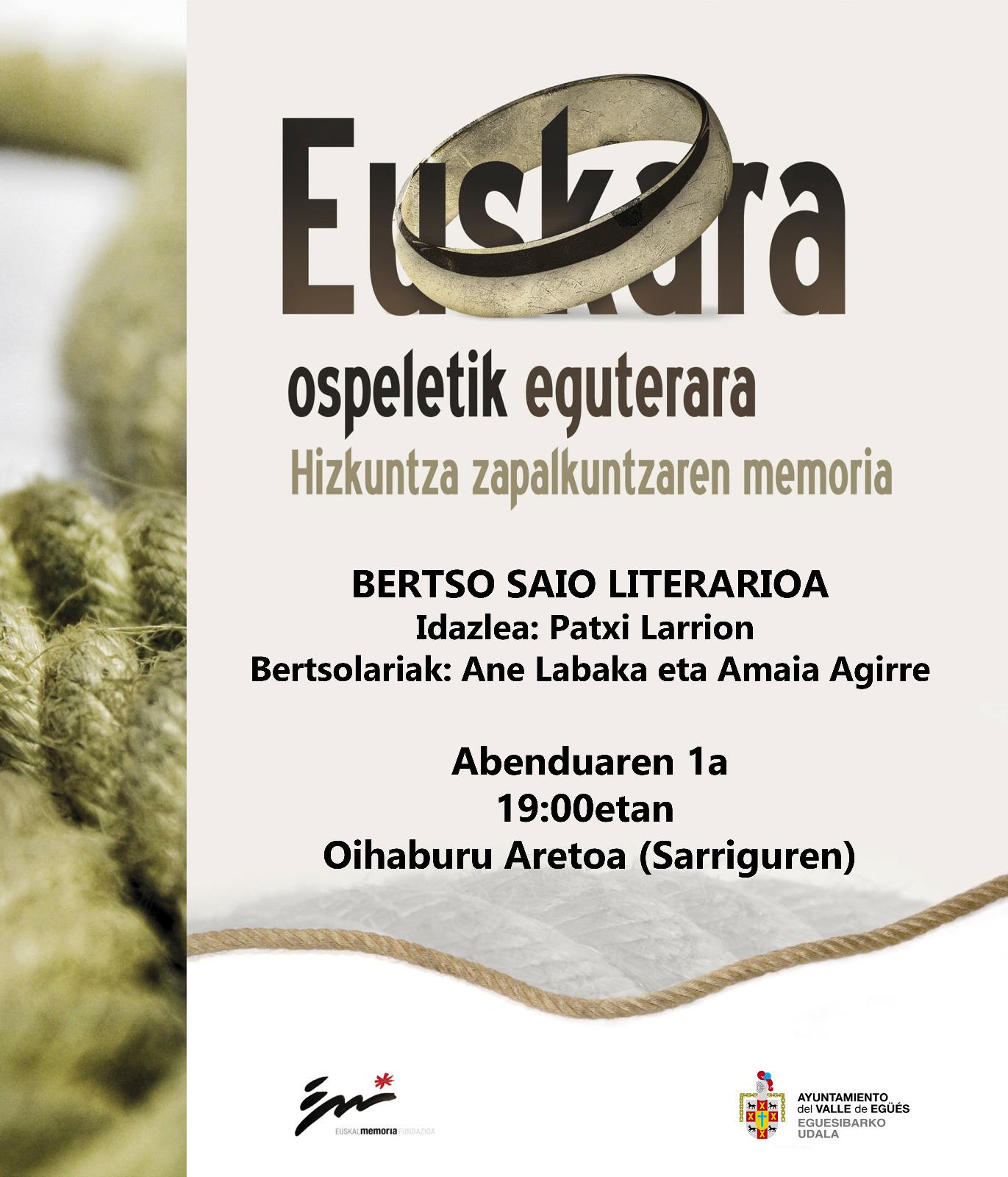 Bertso-saio literarioa @ Sarrigurenen