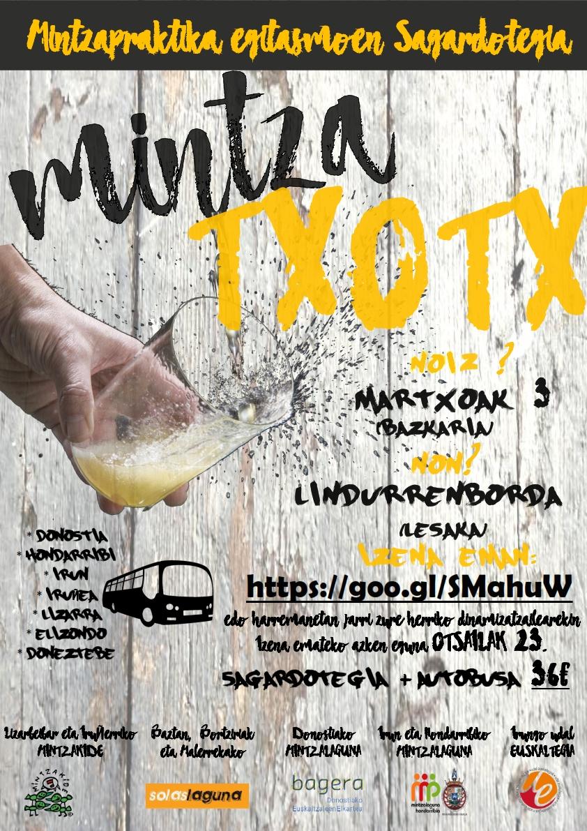 MINTZA-TXOTX! Lesakako Linddurenborda Sagardotegira irteera! @ Linddurenborda Sagardotegia (Lesaka)
