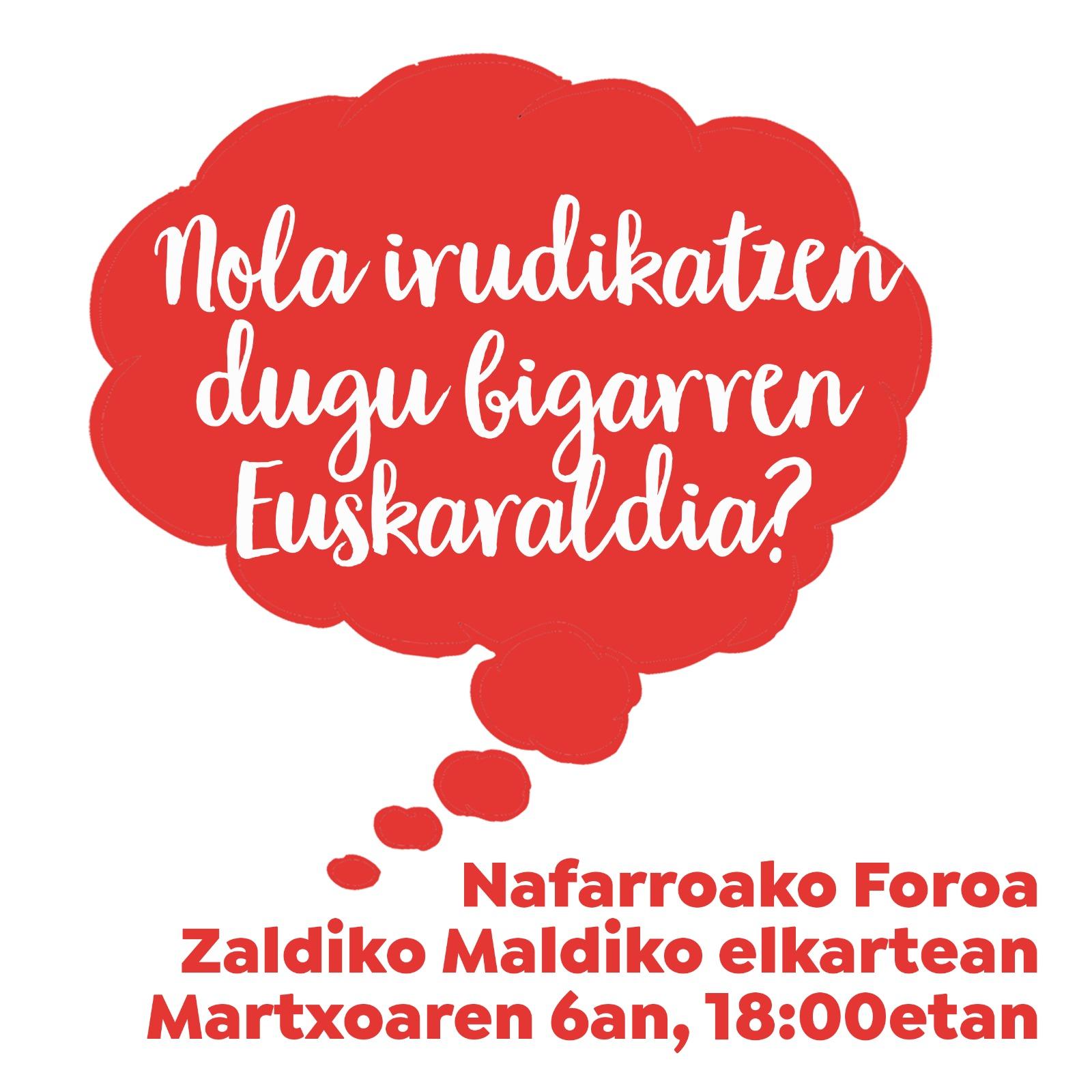 EUSKARALDIAREN AURKEZPENA @ Zaldiko Maldiko Elkartea