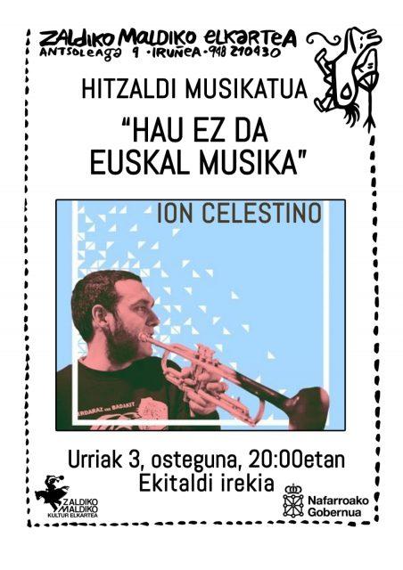 """""""HAU EZ DA EUSKAL MUSIKA""""-Hitzaldi musikatua @ Zaldiko Maldiko Kultur Elkartea"""