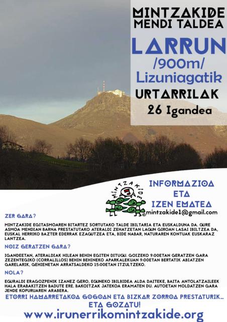 Larrun (900m)- Mintzakide Mendi taldea