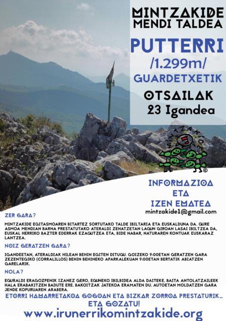 Putterri (1.299m)- Mintzakide Mendi taldea