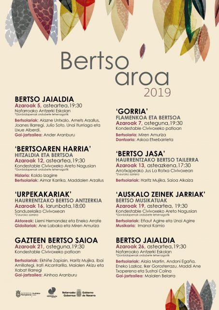 BERTSOAROA 2019: BERTSO JAIALDIA @ Nafarroako Antzerki Eskola.