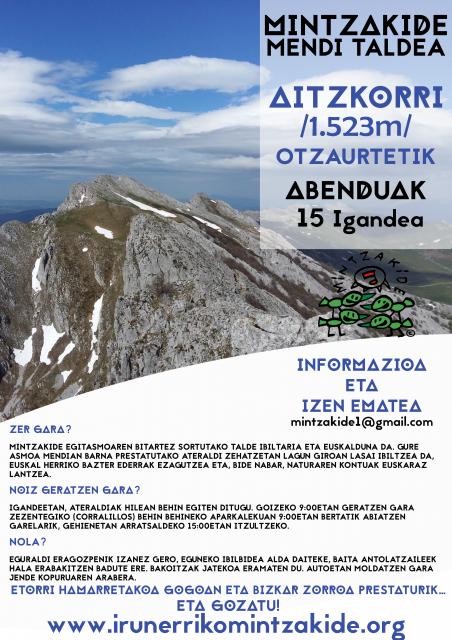 Aitzkorri (1.523m)- Mintzakide Mendi taldea