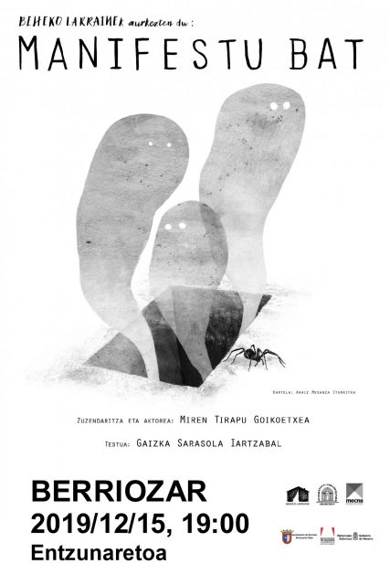 """""""Manifestu bat"""" antzezlana, Beheko Larraine taldearen eskutik @ Berriozarko Entzunaretoa"""