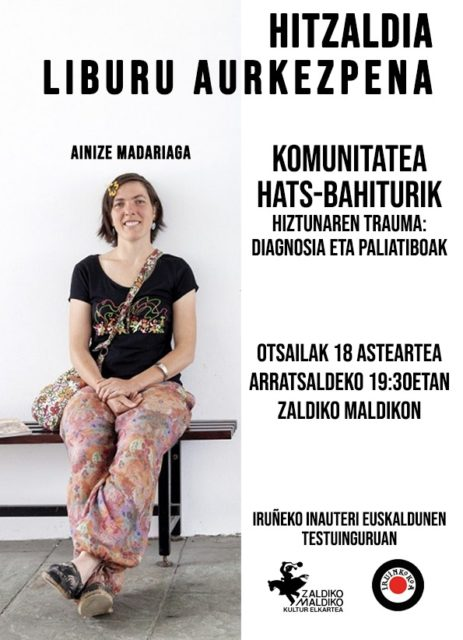 KOMUNITATEA HATS-BAHITURIK. Hitzaldia Ainize Madariaga. Otsailak 18 @ Zaldiko Maldiko Kultur Elkartea