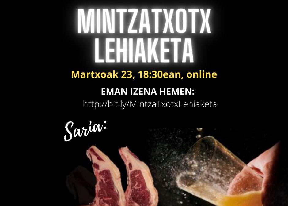 MINTZA TXOTX LEHIAKETA BIRTUALA 2021