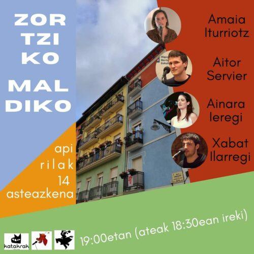 """BERTSO SAIOA: """"Zortziko Maldiko"""" @ Katakrak"""